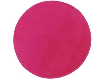 Tapis enfant MIKI ROUND coloris rose