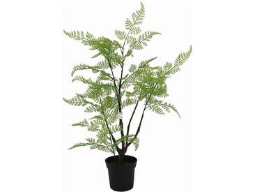 Plante artificielle dans pot PLUTO coloris vert et noir