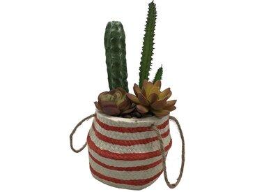 Plante artificielle dans pot en céramique POCUS coloris vert