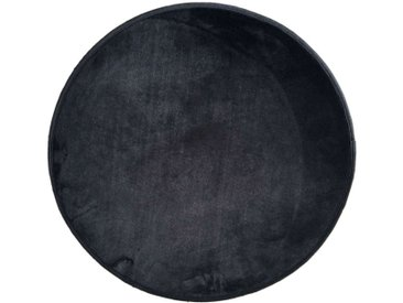 Tapis enfant MIKI ROUND coloris noir