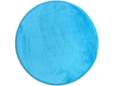 Tapis enfant MIKI ROUND coloris bleu