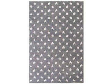 Tapis enfant 100x150 cm ETOILES coloris gris