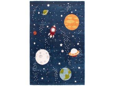 Tapis enfant 100x150 cm GALAXIE coloris bleu