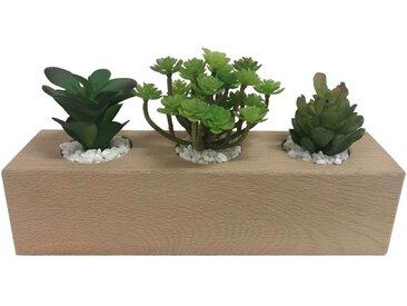 Support avec 3 plantes artificielles PUCE