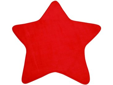 Tapis enfant MIKI STAR coloris rouge