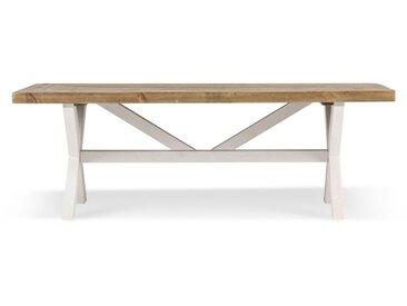 Table à manger Bois Blanc 120x75x41cm - Décoration d'Autrefois