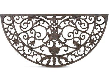 Tapis Paillasson Fer Forge Demi Lune Fonte 73.5cm - Marron - Décoration d'Autrefois