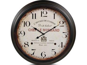 Horloge Ancienne Murale Paris Métal Blanc 58cm - Décoration d'Autrefois
