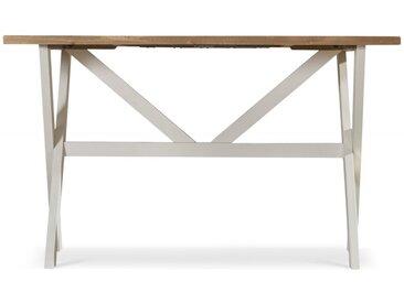 Table Haute Bois Blanc Césuré 160x105x88.5cm - Décoration d'Autrefois