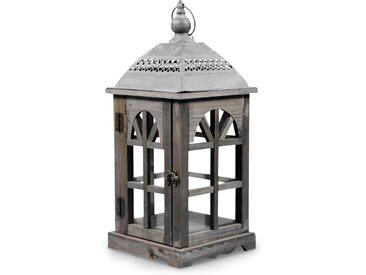 Lanterne Bois 20x20x46cm - Marron - Décoration d'Autrefois