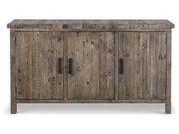 Meuble Bas Rangement Bois 150x45.5x86cm - Marron - Décoration d'Autrefois