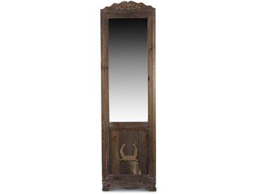 Miroir Ancien Rectangulaire Vertical Sur Pied Bois 177x6.5x51cm - Marron - Décoration d'Autrefois