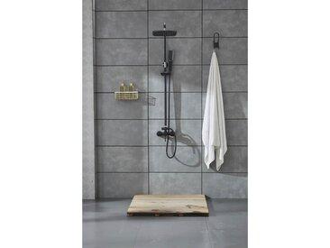 Agéa - Colonne de douche noir mitigeur 'carrée'