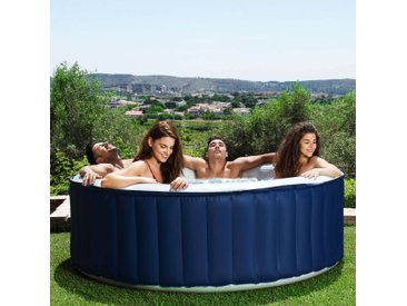 Pearl - Spa gonflable rond 4 places bleu
