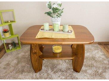 Table basse bois de pin massif Couleur chêne 005 – Dimensions 60 x 92 x 67 cm (H x l x p)