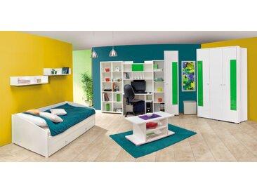 Chambre des jeunes complète - Ensemble R Gabriel, 11 pièces, couleur : blanc / vert