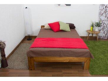 Lit futon bois de pin massif de couleur chêne A8, incl. sommier à lattes – Dimensions : 120 x 200 cm