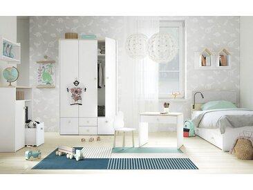 Chambre d´enfant complète - Set A Egvad, 9 pièces, couleur : blanc / hêtre