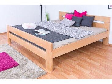 Lit de jeunesse Easy Premium Line ®' K6, 200 x 200 cm bois de hêtre massif naturel