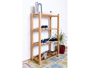 Porte-chaussures en bois de hêtre massif couleur aulne Junco 223 - Dimensions: 100 x 58 x 28 cm (H x L x P)
