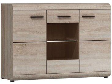 Commode Gabes 11, couleur: Oak Sonoma - 87 x 120 x 42 cm (H x L x P)