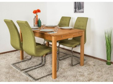 Table à manger en bois de hêtre huilé Wooden Nature 116 - 120-160 x 80 cm (L x P)