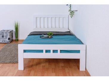 Lit de jeunesse Easy Premium Line ® K8, 120 x 200 cm en bois de hêtre massif laqué blanc