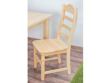 Chaise en bois de pin massif naturel « Junco » 245 – Dimensions: 102 x 45 x 54 cm