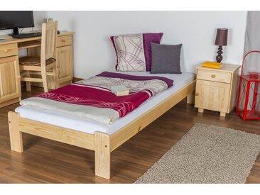 Lit futon bois de pin massif naturel A10, incl. sommier à lattes – Dimensions : 90 x 200 cm