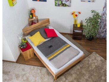 Lit futon / lit en bois massif Wooden Nature 03 cœur de hêtre huilé - Dimensions du couchage 120 x 200 cm