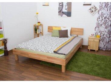 Lit futon / lit en bois massif Wooden Nature 01 cœur de hêtre huilé - Dimensions du couchage 160 x 200 cm