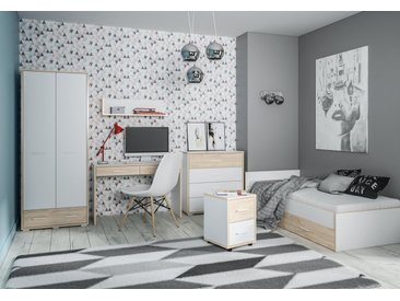 Chambre des jeunes complète - Set E Forks, 6 pièces, couleur : chêne / blanc