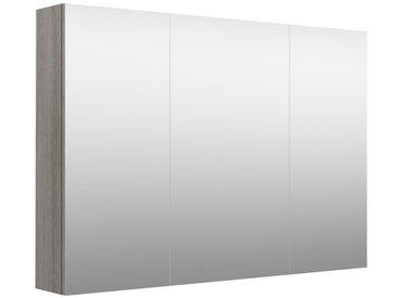 Salle de bain - armoire de toilette Nadiad 42, couleur : gris cendre - 70 x 100 x 14 cm (h x l x p)