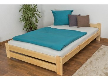Lit futon/lit en bois de pin massif naturel A9, y compris sommier à lattes - Dimensions : 140 x 200 cm