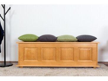 Banc avec coffre de rangement en bois de pin massif, Couleurs Aulne 179 – Dimensions : 50 x 154 x 46 cm (H x l x p)