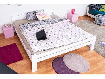 Lit de jeunesse Easy Premium Line ® K4, 200 x 200 cm bois de hêtre massif laqué blanc