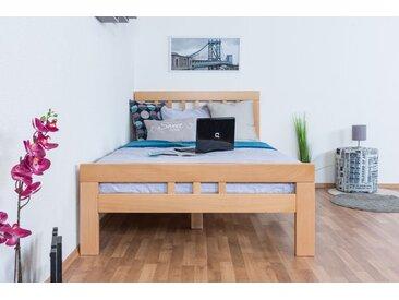 Lit enfant / lit de jeunesse Easy Premium Line ® K8, 120 x 200 cm, bois de hêtre massif naturel