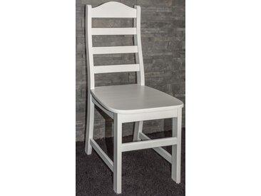 Chaise en bois de pin massif blanc Junco 245 - Dimensions : 100 x 44 x 45 cm (H x l x p)