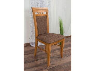 Chaise en bois de hêtre massif couleur aulne Junco 249 - Dimensions : 98 x 48 x 50 cm (H x l x p)