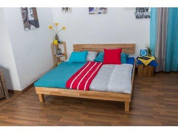 Lit futon / lit en bois massif Wooden Nature 03 cœur de hêtre huilé - Dimensions du couchage 180 x 200 cm