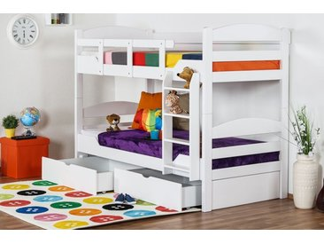 Lit Mezzanine / Lit superposé Easy Premium Line K13/n, hêtre massif blanc