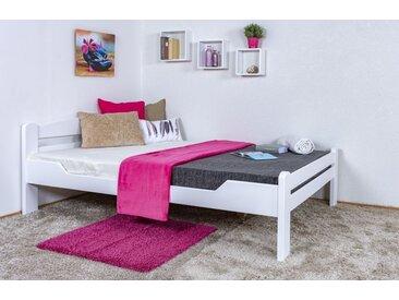 Lit de jeunesse Easy Premium Line ® K4/1, 140 x 200 cm hêtre massif bois laqué blanc