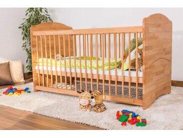 Lit pour bébés  / lit a barreaux Schlafgut hêtre naturel massif huillé - 70x140 cm