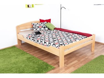 Lit de jeunesse Easy Premium Line ®' K5, 140 x 200 cm bois de hêtre massif naturel, sommier inclus