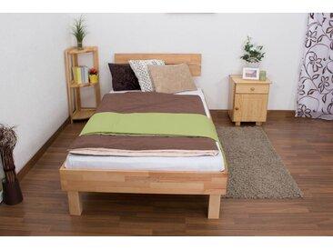 Lit futon / lit en bois massif Wooden Nature 03 cœur de hêtre huilé - Dimensions du couchage 100 x 200 cm
