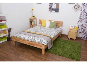 Lit futon / lit en bois massif Wooden Nature 03 cœur de hêtre huilé - Dimensions du couchage 140 x 200 cm