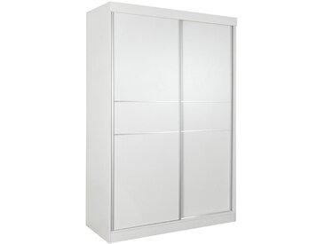 Armoire à portes coulissantes / armoire Bermeo 04, couleur : blanc - 220 x 150 x 65 cm (H x L x P)