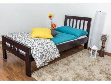 Lit simple Easy Premium Line K8 90 x 200 cm bois dhêtre marron chocolat massif