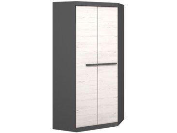 Armoire/Penderie Sidi 08, couleur: gris/pin blanc - 194 x 93 x 93 cm (H x l x p)