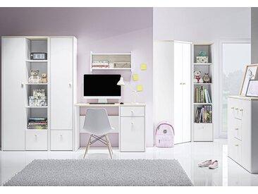 Chambre d´enfant - Set C Egvad, 7 pièces, couleur : blanc / hêtre
